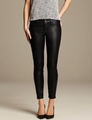 Banana Republic Sloan-Fit Faux-Leather Ankle Pant