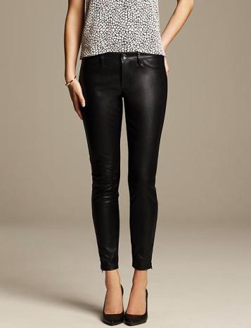Banana Republic Sloan-Fit Faux-Leather Ankle Pant