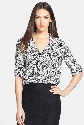 DVF Lorelei 2 Print Silk Shirt