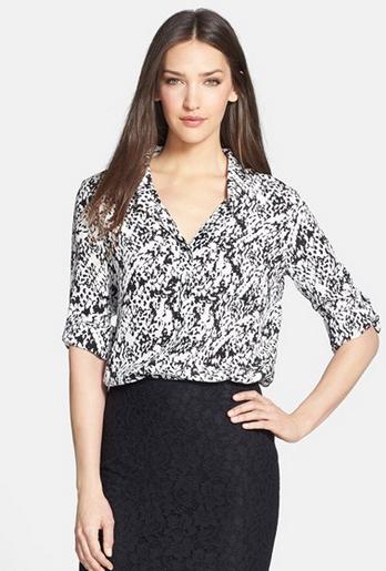 DVF Lorelei 2 Print Silk Shirt