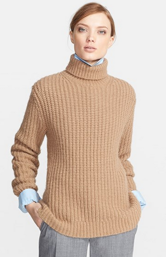 Michael Kors Chunky Knit Alpaca & Silk Turtleneck