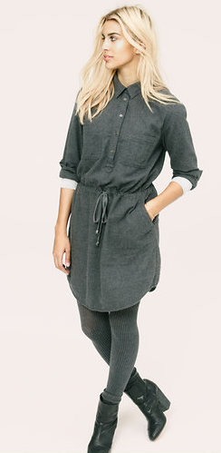 LOU & GREY DRAWNWAIST SHIRTDRESS