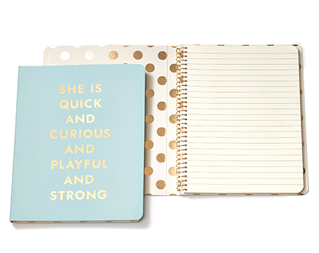 Kate Spade New York spiral notebook